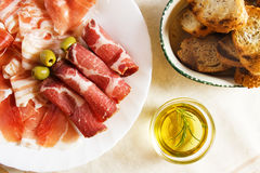 Cured pork meat Stock Photos