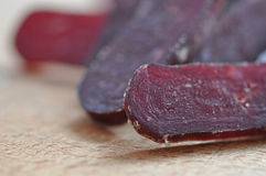 Cured sliced  beef Royalty Free Stock Photography