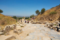 Curetes Street. Ephesus. Turkey Stock Images