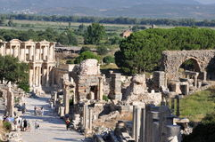 Curetes Street, Ephesus, Turkey. Ephesus was an ancient Greek city and later a major Roman city. It was one of the twelve cities of the Ionian League during the Stock Photos