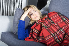 Curing the flu Stock Photography