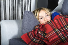 Curing the flu Royalty Free Stock Image