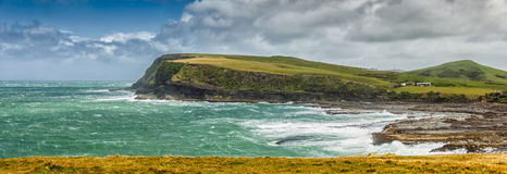 Curio Bay. On a windy summer day, the Catlins, South Island, New Zealand Stock Photography