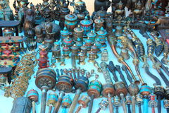 Curio shop in Ladakh. Curio shop selling hand made crafts in Ladakh Stock Photography