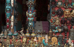 Curio shop in Nepal Royalty Free Stock Image