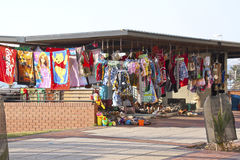 Curio Stall on Beachfront in Durban South Africa Stock Photos