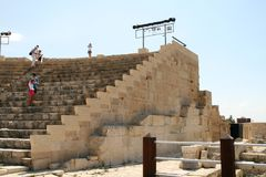 Curion amphitheatre. Cyprus Royalty-vrije Stock Afbeeldingen