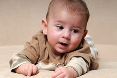 Curios Baby Royalty Free Stock Photography
