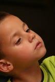 Curios kid Stock Image