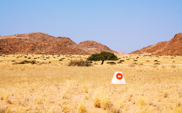 Curios signal in Damaraland territory Stock Images