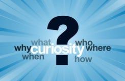 Curiosidade ilustração stock