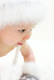 Curiosity. Baby boy in a hat Stock Images