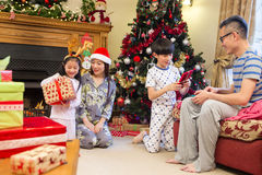 Curiosity at Christmas Time stock photography
