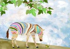 Curiosity. Illustration of Curiosity of a Zebra Stock Photos