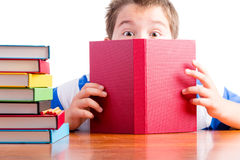 Curiosity makes learning easy for schoolchildren Royalty Free Stock Images