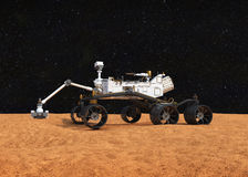 Curiosity Mars rover stock illustration