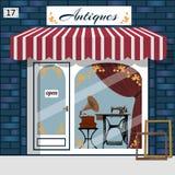 Curiosity shop . Antiques shop. Stock Photo