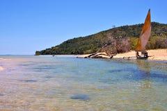 curioso sia isola dell'istmo e linea costiera Madagascar Immagini Stock Libere da Diritti