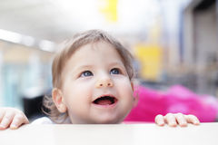 Curious baby Stock Photography