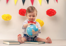 Curious baby boy Royalty Free Stock Photo