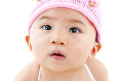 Curious baby face Royalty Free Stock Images