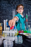 Curious boy scientist Royalty Free Stock Image