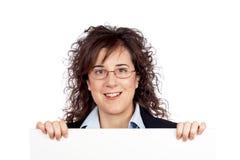Curious business woman Stock Photo