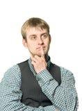 Curious businessman Stock Images