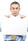 Curious businessman Royalty Free Stock Photography