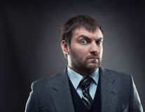 Curious businessman Stock Photos