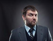 Curious businessman Stock Photos