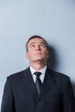 Curious businessman. Stock Photos
