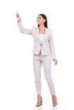 Curious businesswoman. Stock Photo