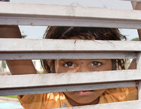 Curious Child - India Stock Image