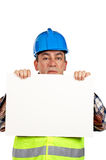 Curious construction worker Stock Photo
