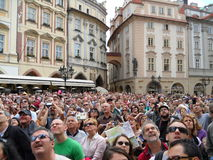 Curious crowd Royalty Free Stock Photo