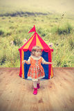 Curious cute girl Royalty Free Stock Photography