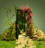 A Curious Entrance. With vines and countless doors Stock Images