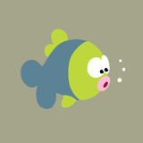Curious Fish. Illustration of a cool fish Stock Photography