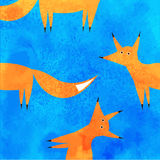 Curious fox peeps Stock Photography