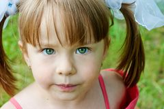 Curious girl Royalty Free Stock Images