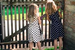 Curious girls Stock Photos