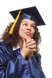 Curious graduate Stock Photography