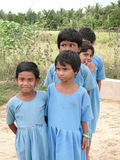 Curious Indian school children Stock Photography