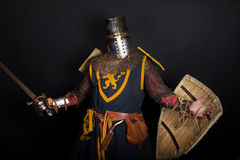 Curious knight Royalty Free Stock Images