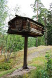 Curious Lapland hut. One of traditional Lapland huts royalty free stock photo