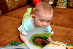 Baby with a Book Royalty Free Stock Photography
