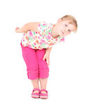 Curious little blond hair girl Royalty Free Stock Images
