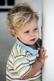 Curious Little Boy Stock Photo