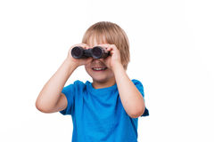 Curious little boy. Royalty Free Stock Image